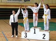 1er Critérium du CDT44 2016 Dorsafe 1ère et Sarah 2ème et Dakota 3ème Saut