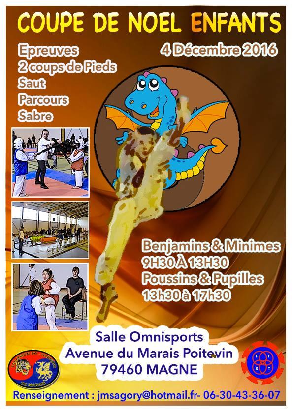 Critérium Compétition jeunes enfants Taekwondo Magné