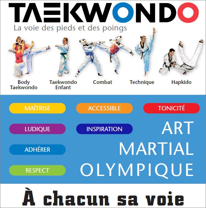taekwondo a chacun sa voie combat technique self defense body art martial olympique